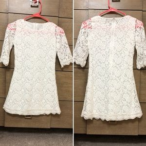 Other - Beautiful White Floral Lace Girls Dress